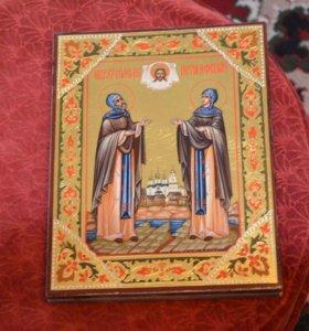 Икона Петр и Февронья размер 24*19