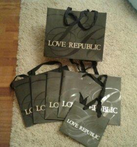 Пакеты бумажные Love republic