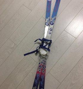 Лыжи детские с палками на рост 120