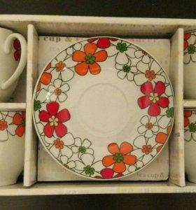 Чайный набор (новый) на 4 персоны