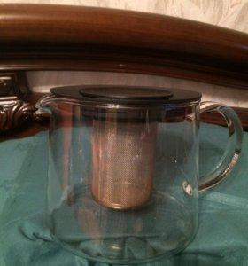 Заварочный чайник, стекло, Икея,
