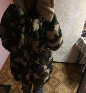 Камуфляжная Парка. Обмен на косуху ч/цвета