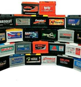 Аккумуляторы разных производителей и мощности.