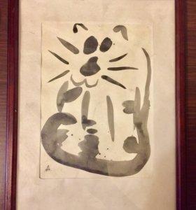 """Картина """"Кот на солнце"""""""