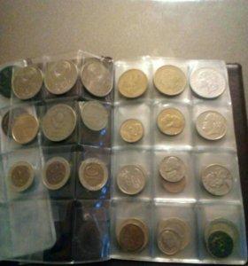 Коллекционные монеты ,разных времён