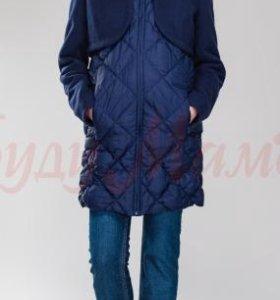 Для беременных пальто-жилетка