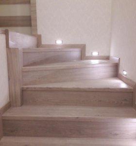 Отделка лестниц ламинатом