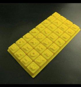 Алфавит силиконовая форма