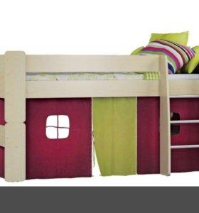 Кровать домик с матрасом