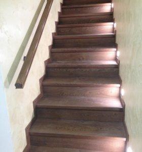 Лестница ламинатом