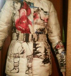 Молодежный зимний пуховик, пальто, куртка
