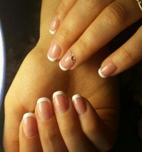 Маникюр,наращивание,покрытие ногтей гель лаком.