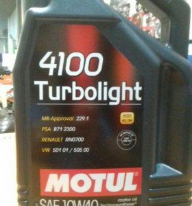 Масло Motul Turbolight 4100 10w40 4л