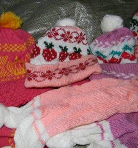 Набор шапка с шарфом
