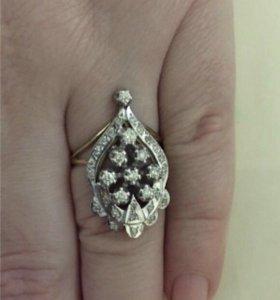 Серьги, кольцо )Бриллиантовый комплект)