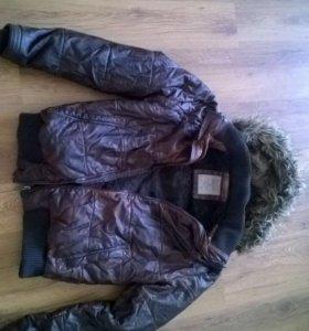 Куртка мужская кож. тёплая