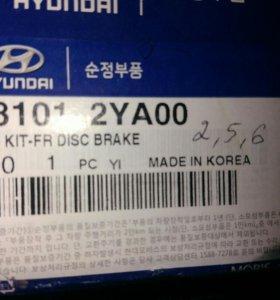 Колодки тормозные на Hyundai ix35