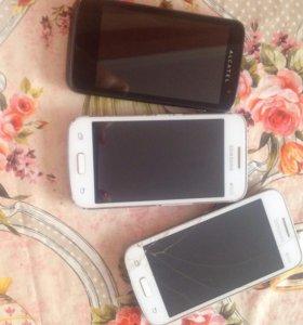 Телефоны 2самсунга и алкатель