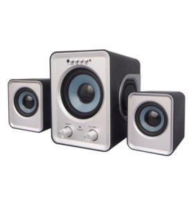 Колонки 2.1 SmartBuy BUZZ с FM/MP3/флеш/ПДУ. Новые
