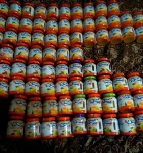 Детское питание, баночки