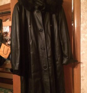 Пальто-кожа