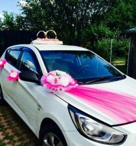 Украшение на автомобили на свадьбу