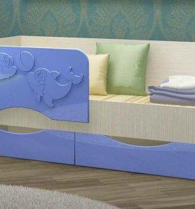 """Детская кровать """"Дельфины"""". Матрац"""
