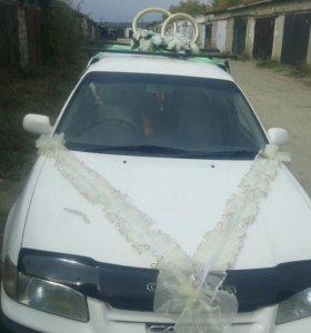 Свадебные кольца и лента