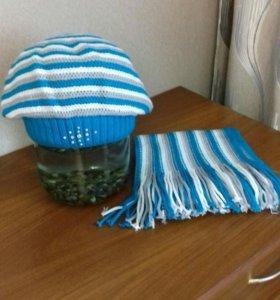 Шапка +шарф.