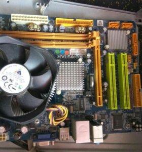 Материнская плата + процессор (Pentium 4)