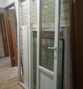 Оконный блок, окно , дверь балконная, пластик
