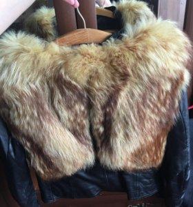 Куртка натуральная кожа , натуральный мех