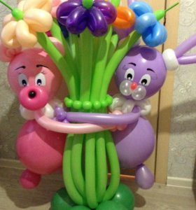 Фигурки, букетики, цветочки из шариков