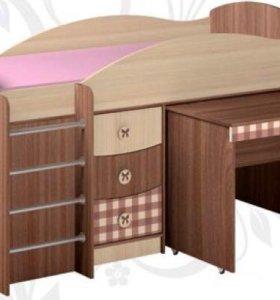 Кровать Алиса с выкатным столом