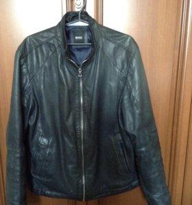 Кожаная куртка Hugo Boss оригинальная