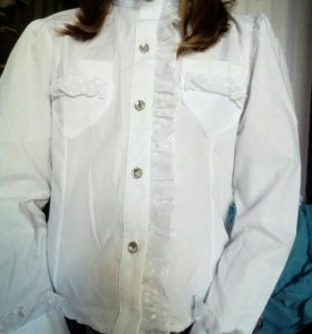 Белая блузка 134 см