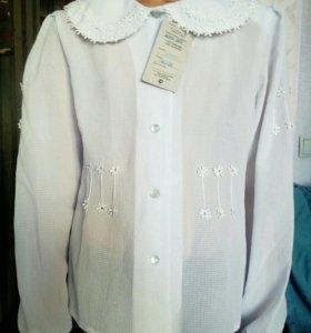Блузка белая новая на 140 см