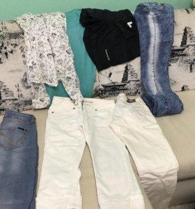 Джинсы , шорты, рубашка все вещи за 1200