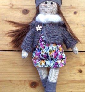 Различные вязаные куклы на заказ
