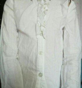 Блузка белая х,б 128 см
