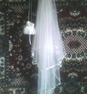 Свадебная фата и сумочка