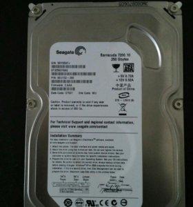 Жесткий диск Seagate 250Gb (кэш 8 Mb)