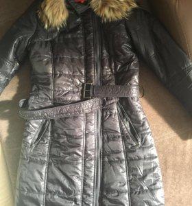 Пальто чёрное и коричневое