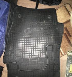 Оригинальные резиновые коврики мазда 3