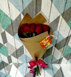 Букет розы,доставка,открытка