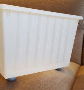 Короб для хранения пластиковый на колесиках ИКЕА