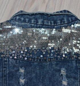 Женский джинсовый жилет