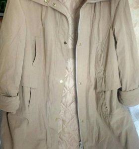 Куртка новая утепленная , модная с капюшоном. 52-