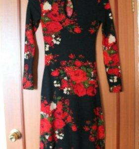 Платье теплое р.46