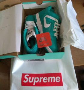 Nike x Supreme SB Air Force 2(Teal)